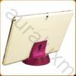AURALUX lila asztali tablettartó kőrisfából
