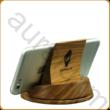 Asztali mobiltartó diófából