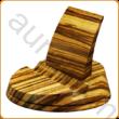 Asztali tablettartó zebránó fából