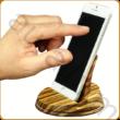 Asztali telefontartó zebránó fából