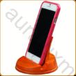 Asztali telefontartó narancssárgára színezett kőrisfából