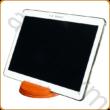 AURALUX narancssárga asztali tablettartó kőrisfából