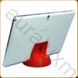 AURALUX piros asztali tablettartó kőrisfából