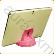 AURALUX pink asztali tablettartó kőrisfából