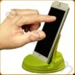 AURALUX zöld asztali telefontartó kőrisfából