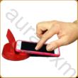 Asztali telefontartó pirosra színezett kőrisfából